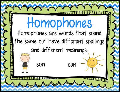 use of homophones